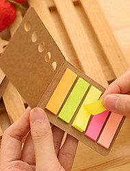 cheap -Kraft Paper Cover Colorful Stripe Self-Stick Notes(1 PCS)