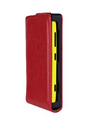 abordables -Funda Para Nokia Lumia 620 / Nokia Lumia 520 / Nokia Funda Nokia Flip Funda de Cuerpo Entero Un Color Dura Cuero de PU para