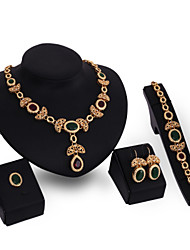 cheap -Women's Jewelry Set Multi-stone Personalized Vintage Euramerican Wedding Special Occasion Birthday Synthetic Gemstones Gold Plated Alloy