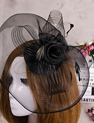 cheap -Satin Fascinators Birdcage Veils 1 Wedding Special Occasion Headpiece