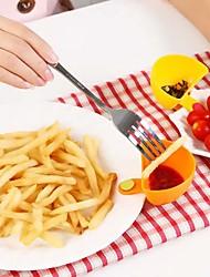 economico -cucina salsa ketchup marmellata tuffo clip di ciotola tazza piattino da tavola (colore casuale)