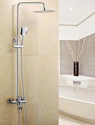 Недорогие -смеситель для душа - современный хромированный керамический клапан с центральным элементом / из латуни / с одной ручкой смеситель для душа с двумя отверстиями для ванны