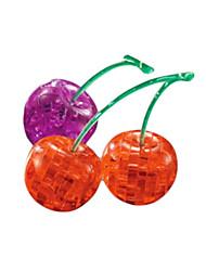 Недорогие -Пазлы 3D Пазлы / Кристалл головоломка Строительные блоки DIY игрушки Вишня ABS Красный / Серебристый Модели и конструкторы