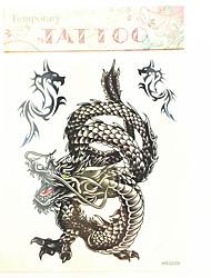 baratos -Séries Totem Tatuagem Adesiva - Estampado/Waterproof - para Masculino/Boy/Adulto/Adolescente - de Papel - Preta - #(23cm*20cm) #(1)