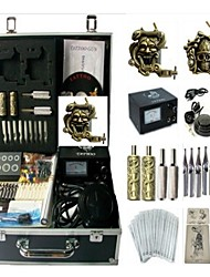 abordables -BaseKey Machine à tatouer Kit de tatouage professionnel - 2 pcs Machines de tatouage, Professionnel Source d'alimentation analogique