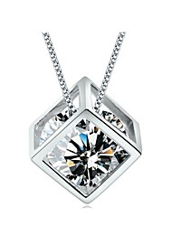 cheap -Women's Birthstones Pendant Necklace Silver Sterling Silver Pendant Necklace , Daily Casual