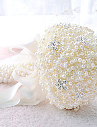 "cheap -Wedding Flowers Bouquets Wedding Party / Evening Bead Crystal Lace Rhinestone Polyester Satin Foam 11.42""(Approx.29cm)"