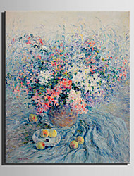 cheap -Oil Painting Hand Painted - Floral / Botanical European Style Canvas