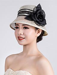 Недорогие -льняные шляпы головной убор свадебная вечеринка элегантный классический женский стиль