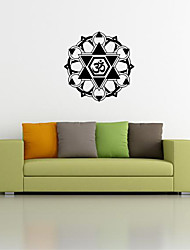 9479 Indian Namaste Words Religion Wall Decal Vinyl Lotus Yoga Sticker Buddha Ganesha Home Decor Bedroom Flower Mural