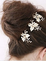 Fashion Hairpin Head Decoration Pearl And Leaves Style Wedding Decoration Wedding Accessories Daily Decoration
