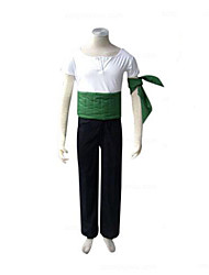 cheap -Inspired by One Piece Roronoa Zoro Anime Cosplay Costumes Cosplay Suits Patchwork Short Sleeves Pants Armlet Corset T-shirt For Men's