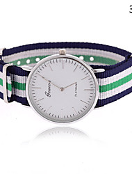 cheap -Women's Fashion Watch Hot Sale Fabric Band Stripes Multi-Colored / One Year / Tianqiu 377