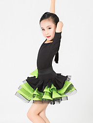 Performance Dresses Children's Performance Spandex / Polyester/ Royal Blue / Light Yellow