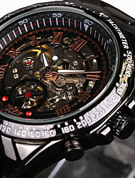 cheap -WINNER Men's Skeleton Watch / Wrist Watch / Mechanical Watch Water Resistant / Water Proof / Hollow Engraving / Luminous Stainless Steel Band Luxury / Vintage Black / Automatic self-winding