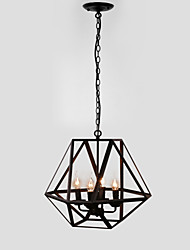cheap -Pendant Light ,  Rustic/Lodge Painting Feature for Candle Style Metal Dining Room Study Room/Office Game Room Garage