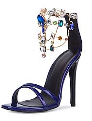 Women's Shoes Heel Heels / Peep Toe Sandals Wedding / Party & Evening / Dress Purple