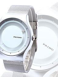 Недорогие -Муж. Уникальный творческий часы Японский Повседневные часы Нержавеющая сталь Группа Кулоны Серебристый металл
