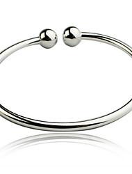 abordables -brazalete de las mujeres pulsera de plata esterlina no piedra estilo femenino clásico
