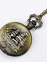 cheap -Men's Pocket Watch Casual Watch Alloy Band Charm Silver / Yellow
