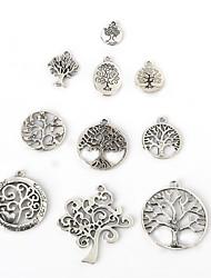 beadia antigas pingentes charme de metal prateado árvore sorte jóias diy pingente