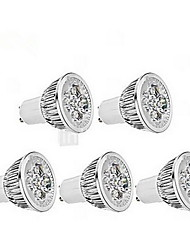 billiga -4W GU10 LED-spotlights MR16 1 350-400 LM Kallvit AC 85-265 V 5 st