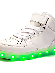 LED Light Up Shoes, Boys' Shoes Athletic / Casual Synthetic Fashion Sneakers Black / Red / White