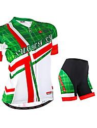economico -Nuckily Maglia con pantaloncini da ciclismo Per donna Manica corta Bicicletta Manicotti Maglietta/Maglia Pantaloncini /Cosciali Set di