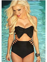 Women's Bandeau The New European Version Of The Casual Beach Wrapped Chest High Waist Swimsuit Split Two-piece Swimsuit Bow