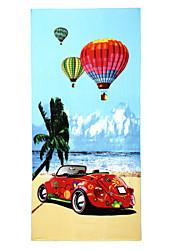 Drap de plage,Impression réactive Haute qualité 100 % Polyester Serviette