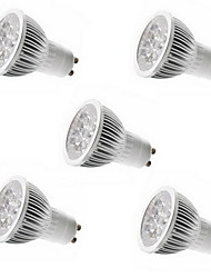 cheap -5pcs 4W GU10/GU5.3/E27/E14 5LEDS 450-500LM Warm/Cool White Light LED Spot Lights(85-265V)