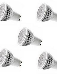 economico -5pcs 4w gu10 / gu5.3 / e27 / e14 5leds 450-500lm luce bianca calda / fredda principale ha condotto le luci (85-265v)