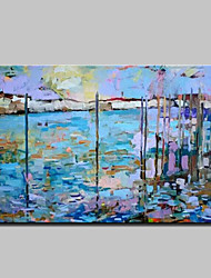Large Hand Painted Modern Abstract Landscape Oil Painting On Canvas Wall Art With Stretched Frame Ready To Hang