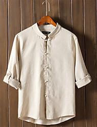 Retro T-Shirt Flax Brand-Clothing Spring T Shirt Brand Clothing Men Shirts Clothes Long Sleeve