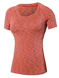 preiswerte -Damen Laufshirt Rasche Trocknung Schweißableitend T-shirt Oberteile für Übung & Fitness Laufen Schwarz Purpur Rot Grün Blau M L XL