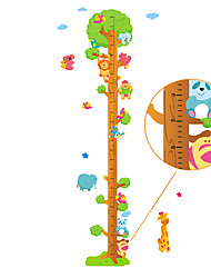 cheap -60-180cm Animals Tree Height Stickers Removable Children's Bedroom Kindergarten Wall Stickers