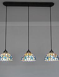 billiga -3-Light Hängande lampor Fluorescerande Rektangulär Metall Snäcka / Skal Ministil 110-120V / 220-240V Glödlampa inte inkluderad / E26 / E27