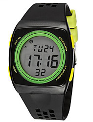 cheap -SYNOKE Men's Sport Watch Wrist Watch Digital Watch Digital 30 m Water Resistant / Water Proof Alarm Chronograph Plastic Band Digital Charm Black / White / Blue - White Black Green / Luminous / LCD