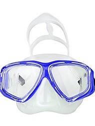 abordables -Masque de Nage / Masque de Snorkeling Imperméable Deux-fenêtre - Plongée, Natation Silicone, Fibre de verre - pour Adulte Jaune / Bleu /