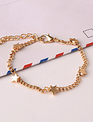 Femme Chaînes & Bracelets Charmes pour Bracelets Alliage Mode Forme de Coeur Forme d'Etoile Doré Bijoux 1pc