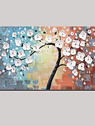 ручная роспись маслом листья белые повезло дерево абстрактные картины с растянутыми кадра
