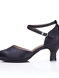 """Damen Modern Leder Absätze Sneaker Im Freien Rüschen Gerafft Glitter Schnürbar Kubanischer Absatz Burgund Schwarz Silber Gold 2 """"- 2 3/4"""""""