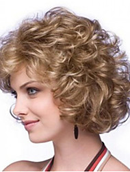 Women Long Curly Wave Curly Afro Synthetic Hair Wig Light Brown Heat Resistant