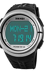 SKMEI Per uomo Orologio sportivo Orologio digitale Digitale LCD Calendario Cronografo Resistente all'acqua allarme Monitoraggio frequenza