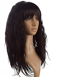 cheap -High Quality Brown,Burgundy and Black Wig Fashion Style High Temperature Wire Long Kinky Straight Hair Wig