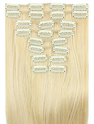 Wig White Gold 62CM High Temperature Wire Length Straight Hair Synthetic Hair Extension