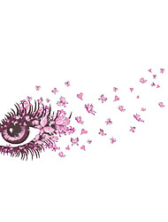 cheap -Wall Stickers Wall Decals Style Pink Charming Eye Butterfly PVC Wall Stickers