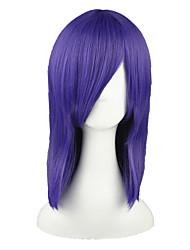 Недорогие -Парики из искусственных волос Прямой Искусственные волосы Фиолетовый Парик 13 см Без шапочки-основы