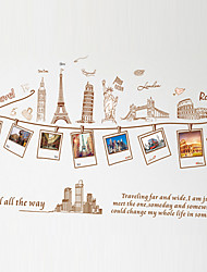 cheap -Vintage Travel Tourist Attractions Landscape Photo Stickers DIY Fashion Removable Wall Stickers