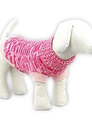 preiswerte -Katze Hund Pullover Hundekleidung Lässig/Alltäglich warm halten Solide Blau Rosa Kostüm Für Haustiere